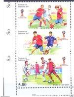 2017. Tajikistan, World Football Championship Russia'2018, 3v Perforated, Mint/** - Tajikistan