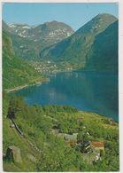 Norvège,NORGE,NORWAY,PART I FRA GEIRANGER MOT DALSNIBBA,FOTO NORMANN,vue Aerienne - Norvège