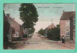 CPA PK WARET-LEVÊQUE La Grand'Route Rails Du Tram / Charette Café Personnage - Circulée En 1919 - Héron