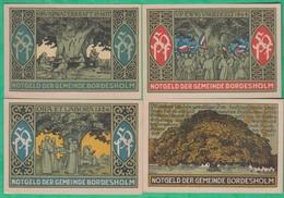 Billet - Deutschland Notgeld Bordesholm 4 Verschiedene Scheine 1921 - [11] Lokale Uitgaven
