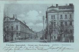 Mondscheinlitho Gruss Aus OEDENBURG (Ungarn, Üdvözlet Sopronbol), Gel.1900 Von Sopron > Türnitz, Sehr Gute Erhaltung - Ungarn