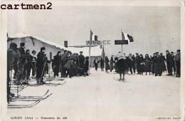 RARE CPA : GIRON CONCOURS DE SKI 01 AIN - France