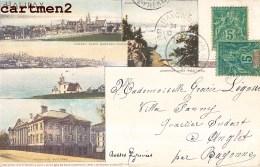 HALIFAX NOUVELLE-ECOSSE + TIMBRE CACHET SAINT-PIERRE-ET-MIQUELON 1900 - Halifax
