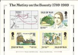 Isle Of Man IOM 1989 The Mutiny On The Bounty 1789-1989 Mi Bloc 11, MNH(**) - Man (Insel)