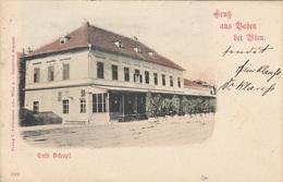 Gruss Aus BADEN Bei Wien (NÖ) - Cafe Schopf, Gel.1911 Von Baden > Baden, Gute Erhaltung - Baden Bei Wien