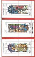ARGENTINA - 1990 NAVIDAD - Natale - Christmas - 3 X 12.000 ₳ Austral - Michel AR BL 44 - 45 - 46 - Blocks & Sheetlets
