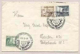 Deutsches Reich - 1937 - 3x Winterhilfswerk On Cover From Berlin To Dresden - Duitsland