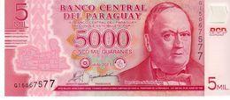 Paraguay P.234 5000 Guarani 2011 Unc - Paraguay