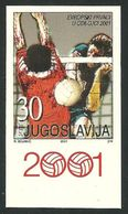2001 Yugoslavia Volleyball  IMPERFORATE Imperforated European Championship Ungezähnt Pallavolo Non Dentellato RARE MNH - Volley-Ball