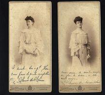 2 X Fotografias Antigas C/assinatura De 2 Irmãs. Photographos Da Casa Real LISBOA. Set Of 2 Old CABINET Photos PORTUGAL - Photos