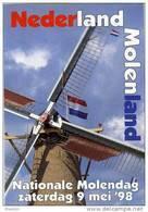 Molen/moulin - STICKER (zelfklever/autocollant) Van De Nationale Molendag (Nederland) 9 Mei 1998 - Stickers