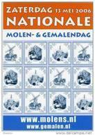 Molen/moulin - STICKER (zelfklever, Autocollant) Van De Nationale Molen- En Gemalendag (Nederland) 2006 - Stickers