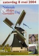 Molen/moulin - STICKER (zelfklever/autocollant) Van De Nationale Molen- En Gemalendag (Nederland) 2004 - Stickers
