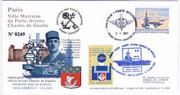 França Fdc -Porte -avions Charles De Gaulle - Otros