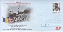 ROMANIA 2018: MARTIN LUTHER KING JR Postal Stationery Cover - Registered Shipping! Envoi Enregistre! - Martin Luther King