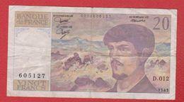 Debussy   --  20  Francs 1983 -  état  TB  -  N D.012 - 20 F 1980-1997 ''Debussy''