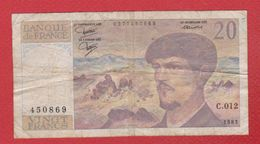 Debussy   --  20  Francs 1983 -  état  TB  -  N C.012 - 20 F 1980-1997 ''Debussy''