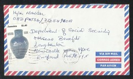 Jamaica Air Mail Postal Used Cover Jamaica To UK Gene Pearson - Jamaica (1962-...)