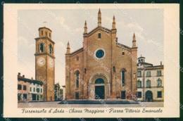 Piacenza Fiorenzuola D' Arda Piazza Vittorio Emanuele Chiesa Cartolina RB7922 - Piacenza