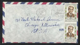 Jamaica 1971 Slogan Postmark Air Mail Postal Used Cover Jamaica To USA National Hero - Jamaica (1962-...)