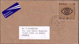 Ireland Letter, Usage Plastic Transparent Stamp - Eye Sight - Unusual Cover - 1949-... Repubblica D'Irlanda