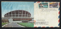 Nigeria Air Mail Postal Used Cover Nigeria To Pakistan Vaccine Production Medical Docks Ship - Nigeria (1961-...)