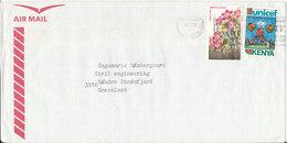 Kenya Air Mail Cover Sent To Denmark 1986 ?? - Kenya (1963-...)