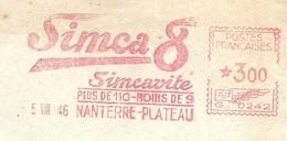 EMA HAVAS Type G De 1946 Avec Publicité SIMCA 8 Simcavite - Plus De 110 - Moins De 9 - EMA ( Maquina De Huellas A Franquear)