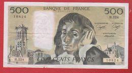 Pascal   --  500  Francs 3/1/1985  -  état  TB+  -  N H.224 - 1962-1997 ''Francs''
