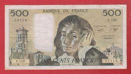 Pascal   --  500  Francs 8/11985  -  état  TB  -  N F.129 - 1962-1997 ''Francs''