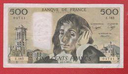 Pascal   --  500  Francs2/6/1983  -  état  TB+  -  N E .185 - 1962-1997 ''Francs''