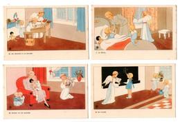 """ENFANT . """" LA JOURNÉE DE L'ENFANT """" . ILLUSTRATEUR J. GOUPPY . ANGE . 12 CARTES POSTALES . Détail Scans - Réf. N°18799 - - Collezioni & Lotti"""