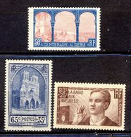 +++ A SAISIR!!! LOT TIMBRES  NEUFS**     ANNEES 30        SCAN CONTRACTUEL - France