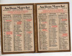 Calendrier De Poche 1938, Au Bon Marché 6,5 X 9 Cm - Calendars