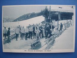 Courses De Bobsleighs à Leysin. Un Départ, Vers 1910 - Sports D'hiver