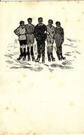 "(ski, Alsace) Cinq Skieurs. Association ""Integer Vitae"", à Strasbourg. - Sports D'hiver"