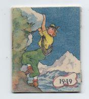 Calendrier De Poche 1949, Mandelli Bijoutier Cahors, Femme Escalade 5 X 6 Cm - Kalenders