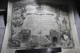Certificats D'étude Primaire Du VAR 1938 - Diplomi E Pagelle