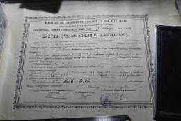 Brevet D'enseignement Commercial 1935 Boulogne Sur Mer - Diplomi E Pagelle