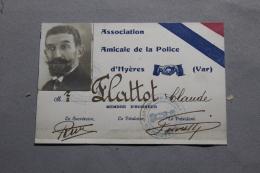 Carte De L'amicale De La Police D'Hyères (VAR) - Police