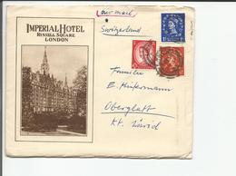 GB Lettre Et Contenu, Impérial Hotel London - Oberglatt Suisse (28.7.54) - Covers & Documents