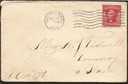 L) 1904 UNITED STATES-USA, WASHINGTON, 2C, RED, PEOPLE, AIRMAIL, XF - Brieven En Documenten