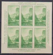 U.S.A  1934  FOGLIETTO ESPOSIZIONE FILATELICA TRANS-MISSISSIPI  UNIF. BF 6 MNH XF - Blocs-feuillets