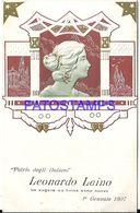 92233 ART ARTE NOUVEAU EMBOSSED PROFILE WOMAN POSTAL POSTCARD - Ilustradores & Fotógrafos