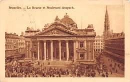 BRUXELLES - La Bourse Et Boulevard Anspach - Lanen, Boulevards