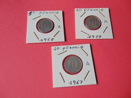 10 Pfennig Alemania Democratica - [ 6] 1949-1990 : RDA - Rep. Dem. Alemana