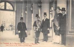 Le Président De La République Française à BRUXELLES - Avant L'arrivée De M. Fallières Au Palais Royal - Feesten En Evenementen