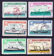 GUERNSEY - ALDERNEY (Emission Locale) - 1963 EUROPA SERIE Obl. BATEAUX / BOATS - Ortsausgaben