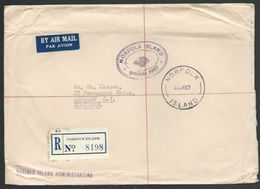 NORFOLK IS 1967 Official Cover, Registered Airmail To Scotland.............56593 - Norfolk Island