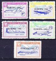 GUERNSEY - ALDERNEY (Emission Locale) - 1966 EUROPA SERIE (+ BLOC) Obl. AVIONS / PLANES - Ortsausgaben
